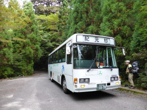 local bus to Yakusugi-land/Kigensugi ヤクスギランド/紀元杉行きバス
